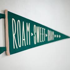 Little Dipper Flag The Roam Sweet Roam Pennant Camping U0026 Travel Banner Green Cream