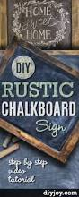 diy rustic chalkboard sign diy joy diy chalkboard paint ideas for furniture projects home decor kitchen bedroom signs