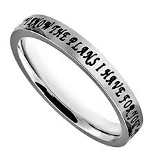 bible verse rings jeremiah 29 11 ring for women i christian bible verse