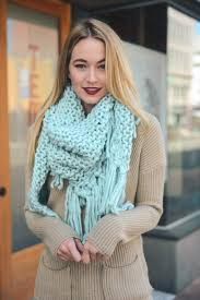 boho wrap oversized knit tassel triangle scarf