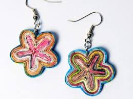 paper earrings flower paper earrings quilled paper jewellery discovered