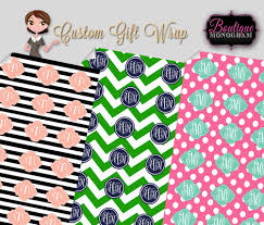 personalized gift wrapping paper personalized gift wrap boutique monogram