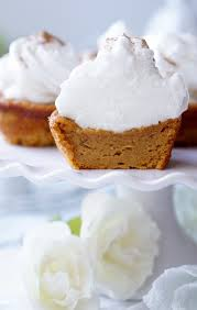 healthy impossible sweet potato pie cupcakes