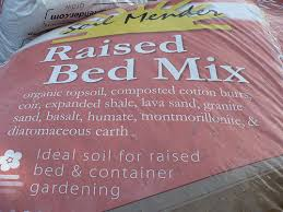 raised garden bed soil mix fasci garden