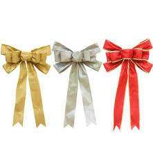 christmas ribbon bows geinne silver gold glitter golden powder 33 55cm