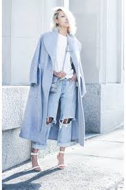 light blue trench coat light blue theyskens theory wool trench coat coat chictopia