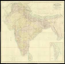British India Map by India And Burma During The British Raj Maps Daniel Crouch Rare