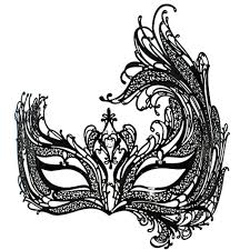 black swan metal filigree laser cut venetian masquerade mask w