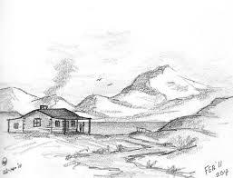 pencil sketches of houses alluring design interior and pencil