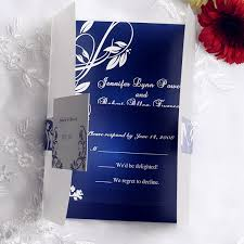 wedding invitation designs royal blue royal blue pocket wedding