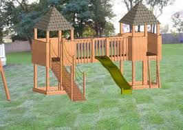 Backyard Swing Set Plans by Downloadable Swing Set Plans Double Trouble Swingset Playset