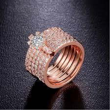 crystal pave rings images 2018 latest design vintage flower link friendship rings gold jpg