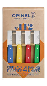 opinel 112 assorted classic colors kitchen paring knives set of 4