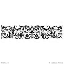 Stencils For Home Decor Custom Border Stencils For Painting Walls U0026 Ceilings Modello