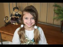 hair styles in two ponies lace braid into soft ponytails cute girls hairstyles youtube