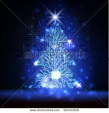 vector abstract lighting blue technology stock vector