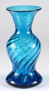 Blenko Vase Blue Green Swirl Vase Blenko Antiques Board