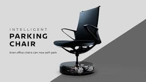 nissan u0027s self parking office chair goes back to its station