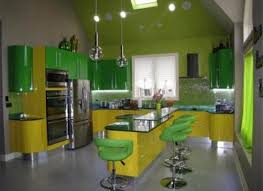 new ideas small kitchen designs in yellow and green colors