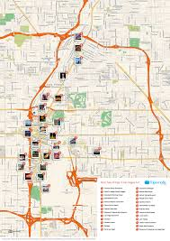 Map Of Chicago Hotels by Las Vegas Strip Attractions Map Map