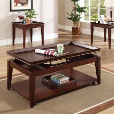 Cherry Side Tables For Living Room Steve Silver Clemens Rectangular Cherry Wood Lift Top 3