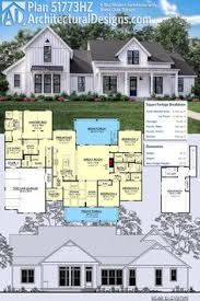 farm house floor plans plan 14661rk modern farmhouse with vaulted master suite
