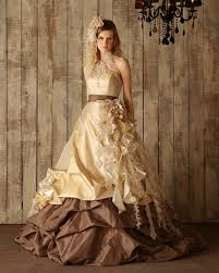 brown wedding dresses chocolate brown and yellow gold wedding dress available in every
