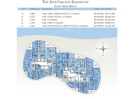 Ritz Carlton Toronto Floor Plans by Ritz Carlton Residences Sunny Isles Beach