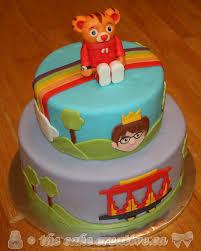 daniel tiger cake daniel tiger themed birthday cake chocolate cake with stra flickr