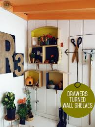 how to make wall shelves out of old dresser drawers east coast