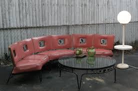 Mid Century Modern Patio Chairs 1950 S Vintage Woodard Salmon Wrought Iron Grapes Vine Pattern