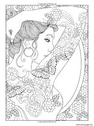 shoulder tattooed woman coloring pages printable