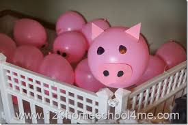 pig balloons farm birthday party pig balloons use for pig up