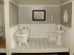 Wainscoting Bathroom Vanity Bathroom Brown Wooden Wainscoting Bathroom For Fancy Bathroom