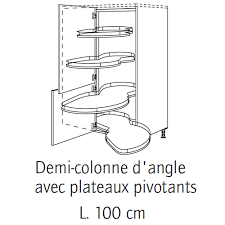 colonne d angle cuisine meuble demi colonne d angle 84 bernay habitat cuisine