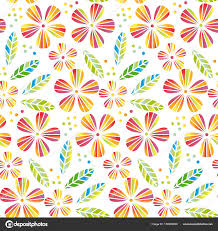 tropical wrapping paper tropical flowers and leaves simple and decorative vector seamless