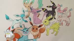 how to draw pokemon no 133 eevee and all its evolutions remake