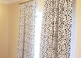 Etsy Drapes Black Dalmatian Spots Curtain Panels 25 Or 50 Inch Widths