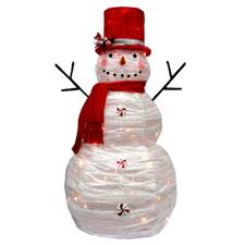 outdoor lighted decorations snowman 24 amazing outdoor