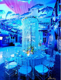 the sea decorations the sea wedding motif with hanging jellyfish table