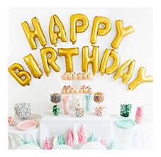 happy birthday balloon happy birthday balloon banner 16 inch matte gold
