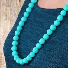 bead necklace tiffany images Teething necklace jewelry organic bpa free silicone chew beads jpg
