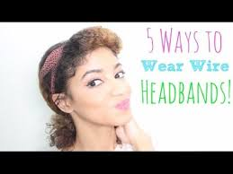 wire headband 5 ways to wear a wire headband