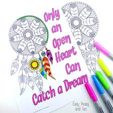dream catcher coloring pages adults easy peasy fun