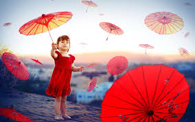 children and red umbrellas wallpapers 1920x1200 492398