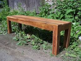 Antique Parsons Bench Modern Style Rustic Parsons Bench From Reclaimed Barn Wood