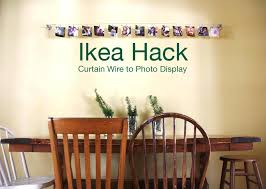 Curtain Wire Target Ikea Hack Curtain Wire To Photo Display Redleafstyle Com Do