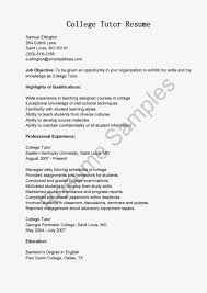 Tutor Resume Skills 35 Sample Objective For Teacher Resume Resume Examples