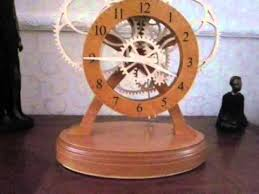 Free Wooden Clock Movement Plans by Battery Operated Electromechanical Wooden Gear Clock Wmv Youtube