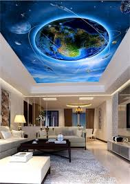 custom children wallpaper earth with planets and red nebula 3d 3d wallpaper ceiling custom photo wall paper only beautiful earth design bedroom